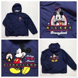 Disney Hooded Jacket Blue Embroidered L